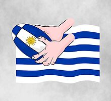 Uruguay Rugby Flag by piedaydesigns