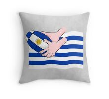 Uruguay Rugby Flag Throw Pillow