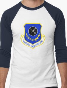 24th Special Operations Wing (USAF) Men's Baseball ¾ T-Shirt