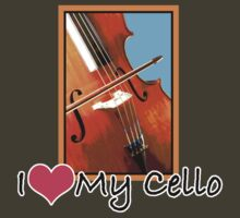 I Love My Cello by evisionarts