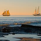Sailing home at sunset, Broome, Australia. by johnrf