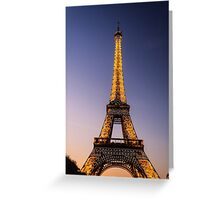 Eiffel Tower and sunset (2) Greeting Card