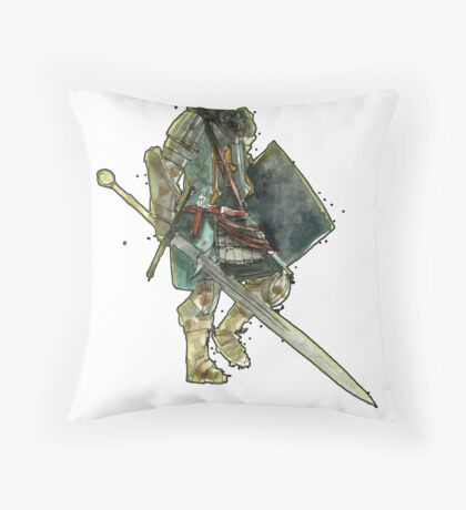 A Knight Throw Pillow