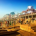Life At Varanasi Ghat by Mukesh Srivastava