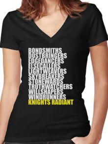 Orders of the Knights Radiant Women's Fitted V-Neck T-Shirt