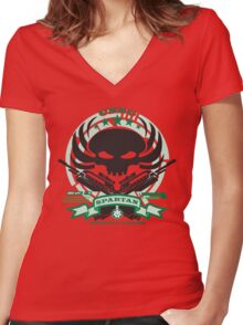 USNC Spartans - Special Teams Women's Fitted V-Neck T-Shirt