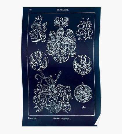 A Handbook Of Ornament With Three Hundred Plates Franz Sales Meyer 1896 0538 Heraldry Helmet Trappings Inverted Poster