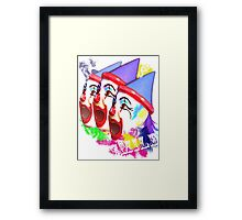 Carnival Clowns Framed Print
