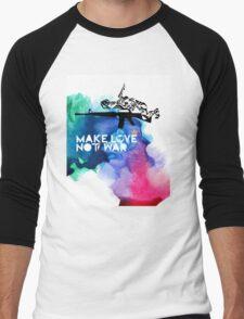 Make Love Not War M16 Men's Baseball ¾ T-Shirt