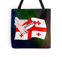 Rugby Georgia Flag Tote Bag