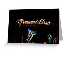 Freemont in Neon Greeting Card