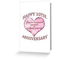 10th. Anniversary Greeting Card
