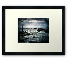 Fishing the Outgoing. Framed Print