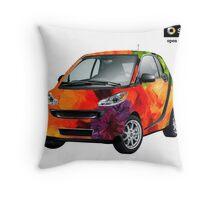 California Poppy Smart Car Project Throw Pillow