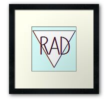 3D effect 'RAD'  Framed Print