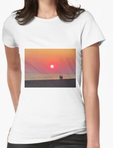 Couple Watching the Sunset Womens Fitted T-Shirt