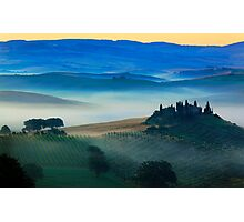 Val d'Orcia Blues Photographic Print
