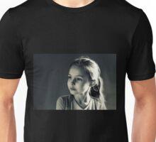 Portrait- Girl in Black & White Unisex T-Shirt