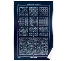 A Handbook Of Ornament With Three Hundred Plates Franz Sales Meyer 1896 0028 Geometrical Elements Diaper Patterns Inverted Poster