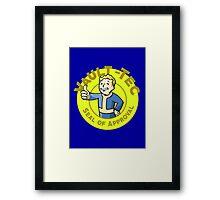 Vault-Tec Seal of Approval - Clean Framed Print