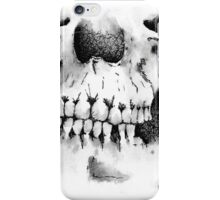 Skull Jaw - Black and White iPhone Case/Skin