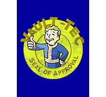 Vault-Tec Seal of Approval - Deteriorated  Photographic Print