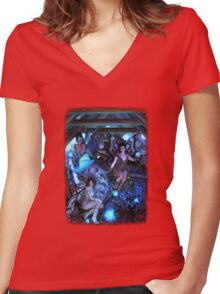 Iaconagraphy: Time Guardians: The Attic Women's Fitted V-Neck T-Shirt