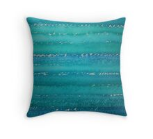 Whitecaps original painting Throw Pillow