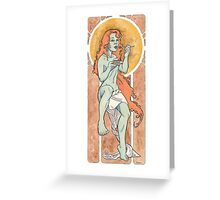 The Seven Deadly Sins - GLUTTONY Greeting Card