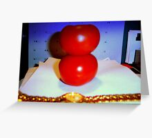 stacked tomatoes Greeting Card