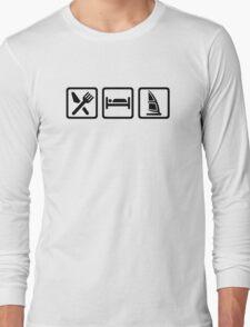 Eat sleep Windsurfing Long Sleeve T-Shirt