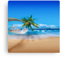 Exotic Post Card Canvas Print