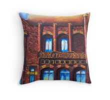 Old Bank - in red. Throw Pillow