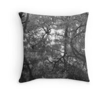 Murky Fairlyland B&W Throw Pillow