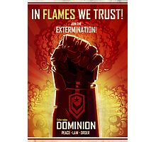 IN FLAMES WE TRUST Photographic Print