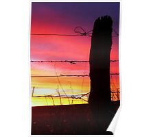 Sunset Post Poster