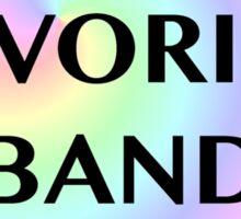 Pastel Fave Band sucks Sticker