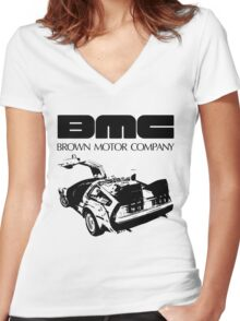 Brown Motor Company II Women's Fitted V-Neck T-Shirt