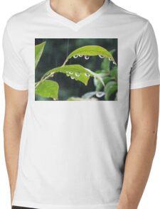 45 Droplets Mens V-Neck T-Shirt
