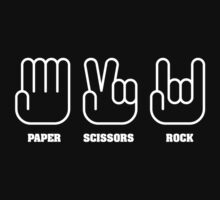 Paper Scissors ROCK Kids Tee