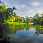 Stourhead Gardens Beauty Of The Lake by delros