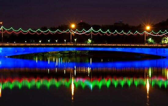 Single Arch - Ferdowsi Bridge - Esfahan - Iran by Bryan Freeman