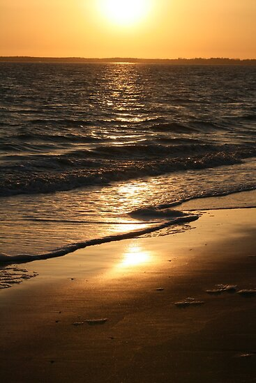 Sunset on the Beach - La Vendée by Pamela Jayne Smith