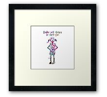 Dobby Quote from Harry Potter Watercolor  Framed Print