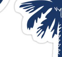 Blue Palmetto Moon Sticker