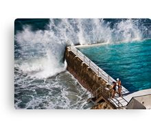 Bondi Beach Splash Canvas Print