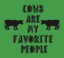 COWS ARE MY FAVORITE PEOPLE Kids Tee