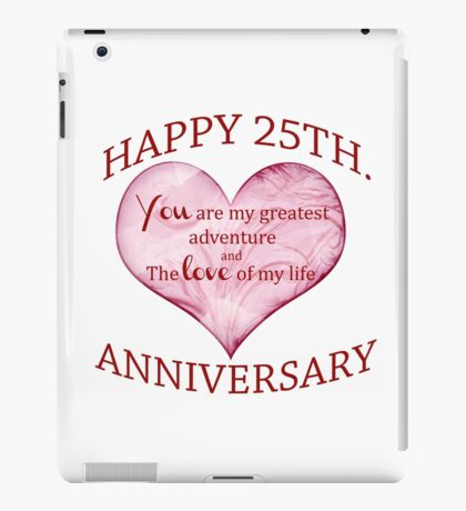 25th. Anniversary iPad Case/Skin