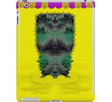 Fantasy island on clouds,involved is a mermaid iPad Case/Skin