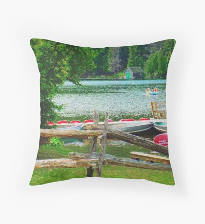 Mont Tremblant Throw Pillow